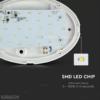12W LED Mennyezeti lámpatest Fehér ovális 4000K