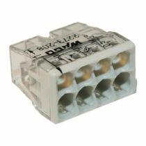 Vezeték összekötő 8x 0-2,5mm2 átlátszó 24A fehér 50db/doboz