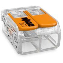 Vezeték összekötő 2x 0,2-4mm2 univerzális karos mt 100db/doboz