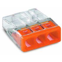 Vezeték összekötő 3x 0-2,5mm2 átlátszó 24A narancs 100db/ doboz