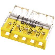 Vezeték összekötő 5x 0-2,5mm2 átlátszó 24A sárga