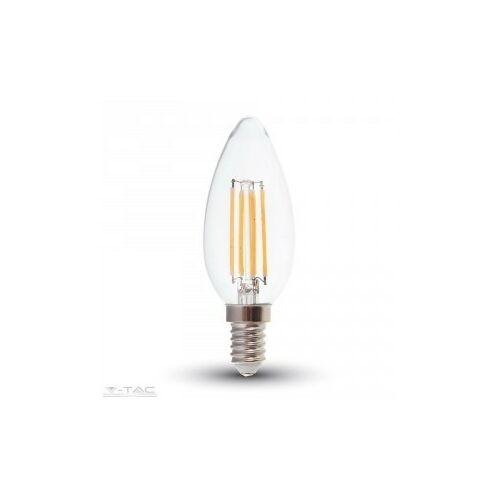 Átlátszó LED Filament COG lámpa E14 C35 4W 4000K gyertya