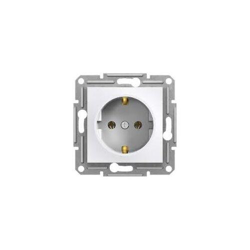 Asfora dugalj 2P+F 16A/250V sülly csav bekötés fehér keret nélk