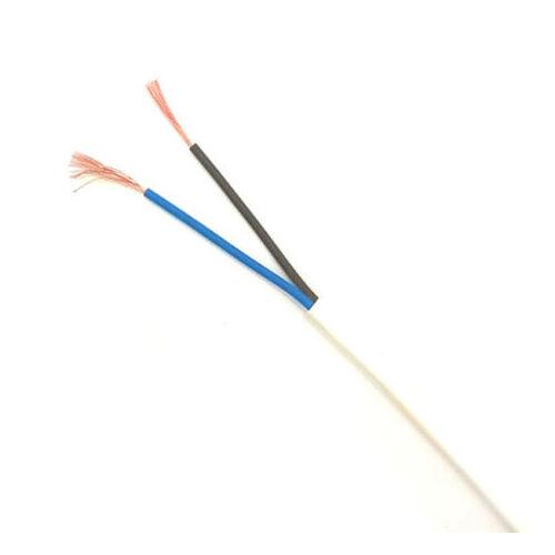 H03VVH2-F 2x0,75 fehér Műa szig hajlvezeték 300/300V MTL