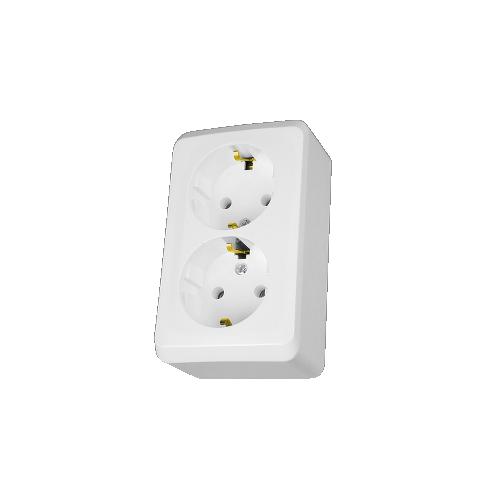 Prima falon kívüli dupla dugalj 2x2P+F csatlakozóaljzat IP20 Schneider